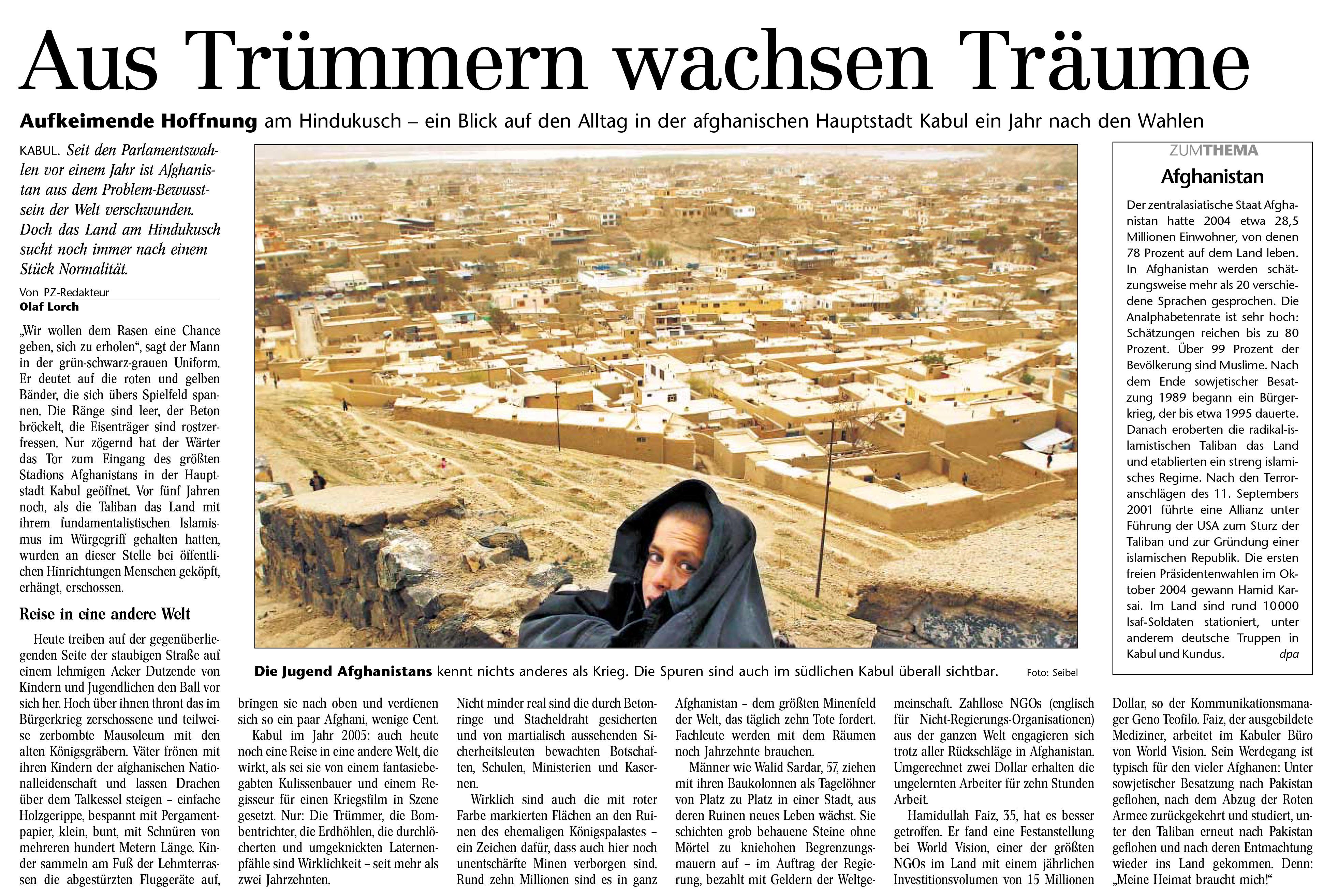 Berichterstattung Afghanistan